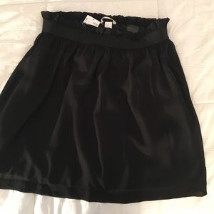 Black skirt, elastic waste